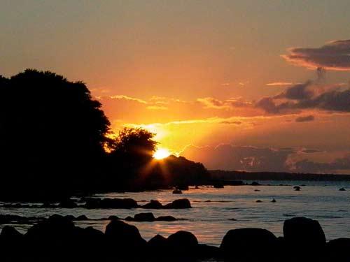 Sonnenuntergang erlebt am Neukirchener Ostsee-Strand